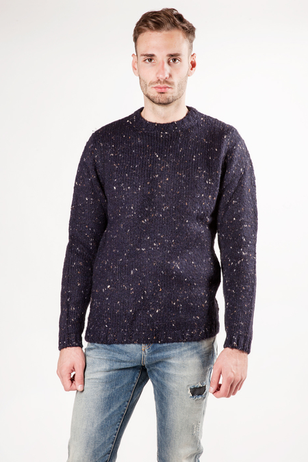 Wool&Co Neps Quality Sweater - Blue