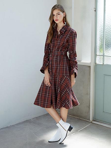 Unisex F.COCOROMIZ X JEGALHUN Check Dress Shirt Set - Brown