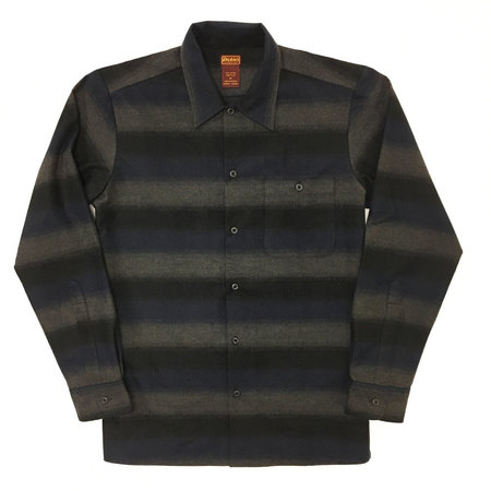 Dickie's 1922 Japanese Flannel Shirt - Blue/Black Ombre Stripe