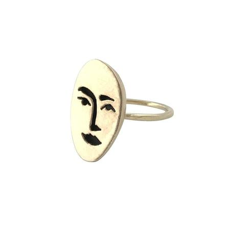 Therese Kuempel Face Ring - Brass