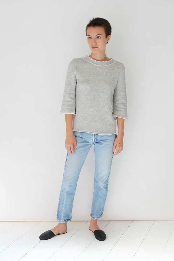 Lacausa pablo pullover | speckeled grey