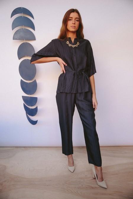 STORM & MARIE pajama top - DARK BLUE
