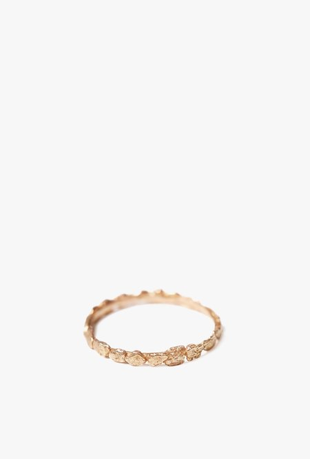 Blair Lauren Brown Pave Faux Chunky Ring - 14k Rose Gold