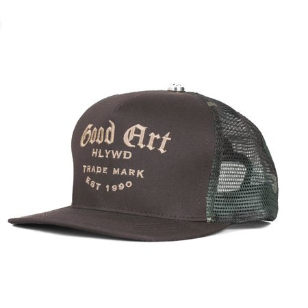 Good Art HLYWD High Crown Camo Snapback Trucker Cap
