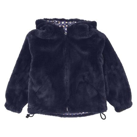 KIDS Bonton Child Paris Reversible Faux Fur Jacket - Marine Blue