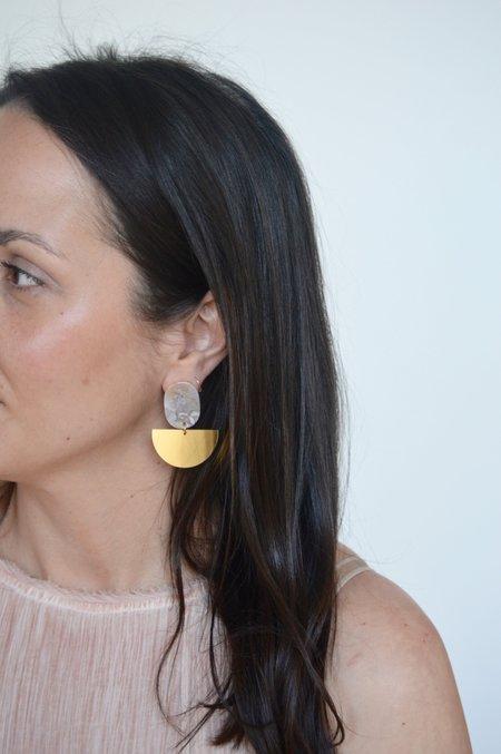 One Story curve Earrings - GREY