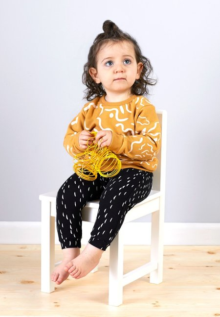 KIDS North of West Kids Painted Organic Sweatshirt - Gold/Natural