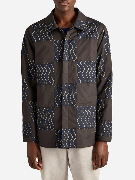 O.N.S x NIYI OKUBOYEJO ISSA QUILTED SHIRT - BROWN WAVE
