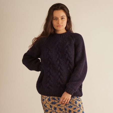 Aymara Sublime Hand Knit Jumper - NAVY