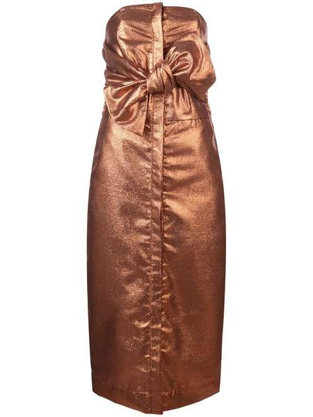 Kamperett Vuelo Dress - Copper Jacquard