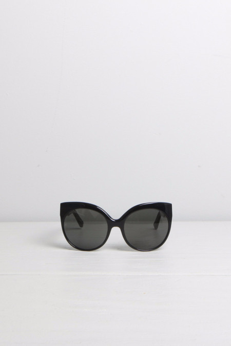 Linda Farrow Cat-Eye Cage Detail Sunglasses