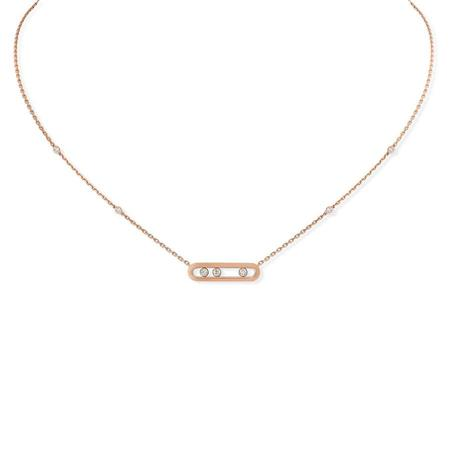 Messika Baby Move Necklace - 18k Pink Gold/Diamonds