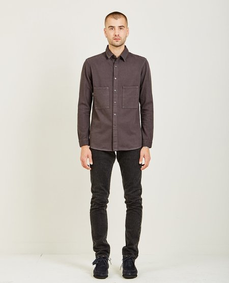 Prospective Flow BUTTON DOWN SHIRT - FADED BLACK