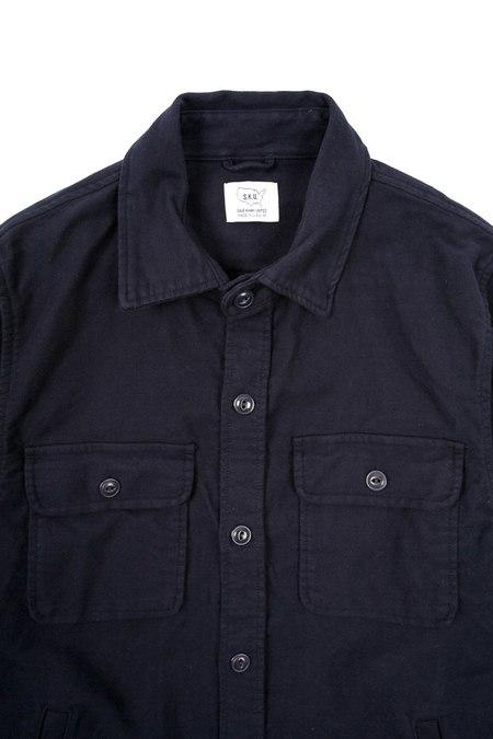 Save khaki United Moleskin CPO jacket - Navy