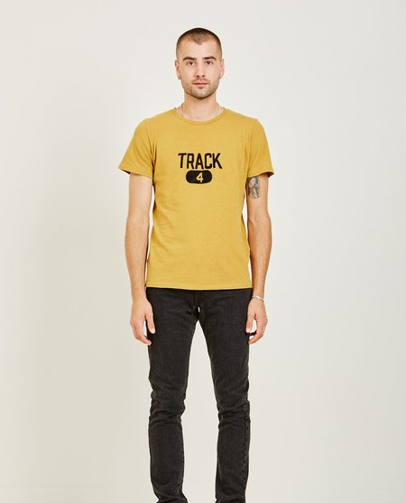 Remi Relief RECYCLED COTTON SPECIAL FINISH TEE - MUSTARD