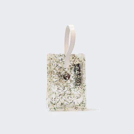 KARA Pinch Wristlet - Clear PVC