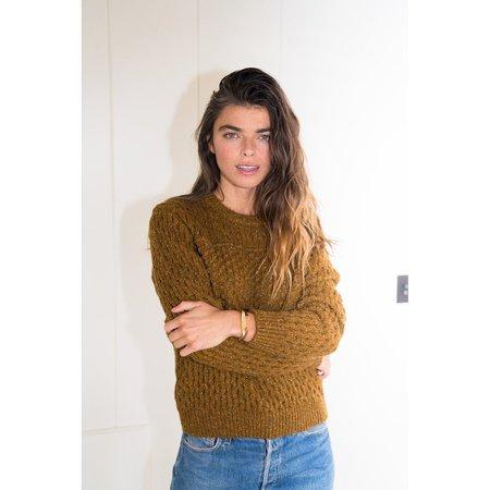 Birds of Paradis Lara Multi-Textured Sweater - Golden Brown