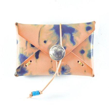 Made Solid Buffalo Nickel Card Case - Indigo Tie Dye