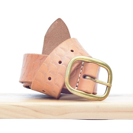 Made Solid Full Length Stamped Belt