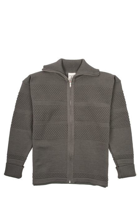 SNS Herning Fisherman Full Zip sweater - Grey Absolute