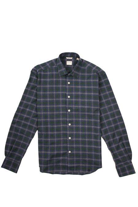 Culturata Super Soft Cozy Plaid shirt - Navy/Green