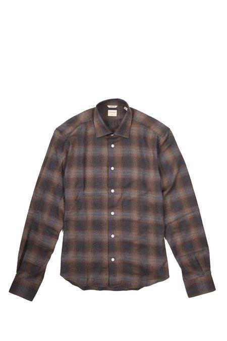 Culturata Super Soft Cozy Fade Plaid shirt - Brown