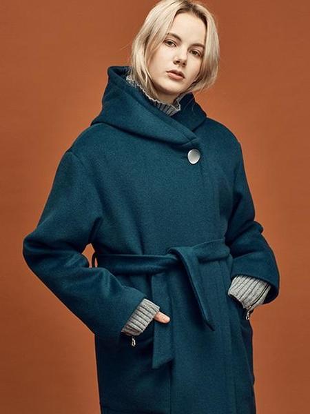 ANEDIT W Hood Coat - Blue