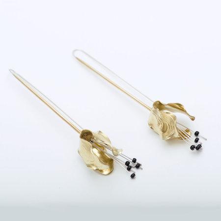 Leigh Miller Brass Lily Drops