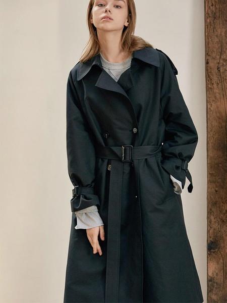 ANEDIT Trench Coat - Black