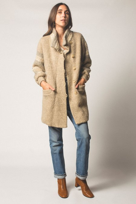 Preservation Vintage Wool Coat - Gray