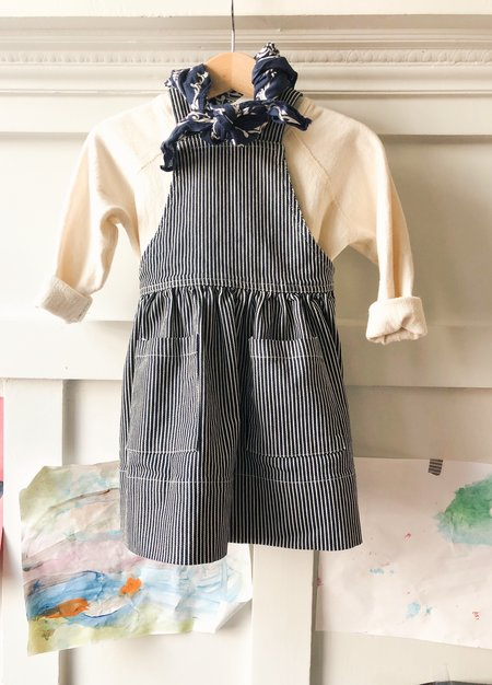 Kids Hey Gang Pinafore - Hickory Stripe