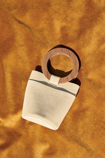 Modern Weaving Mini Wood Circle Handle Bucket - Sable