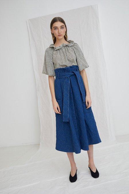 WHiT Pocket Skirt - indigo