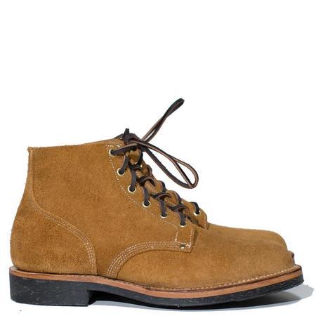 Viberg Wheat Roughout Boondocker Boot