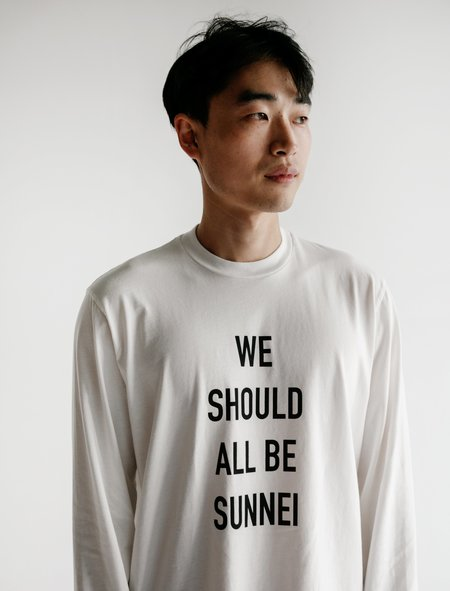 Sunnei We Should All Be Sunnei Sweatshirt - Off White