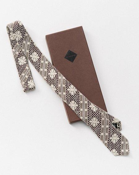 Marwood Mesh Lace Necktie - Black/White
