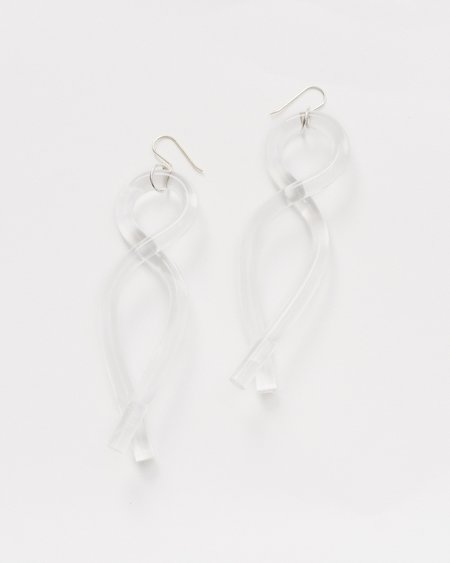 Corey Moranis Pendant lucite earrings - clear