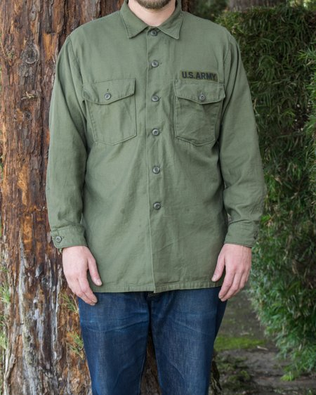 Fitra Vintage Type III OG-107 Cotton Sateen Fatigue Shirt - Olive Drab