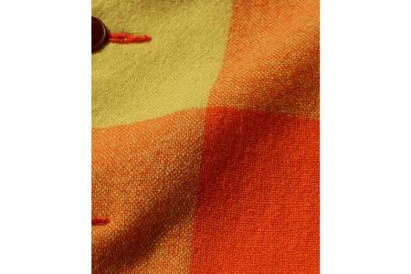 Beams + Block Check Camp Color Jacket - Orange
