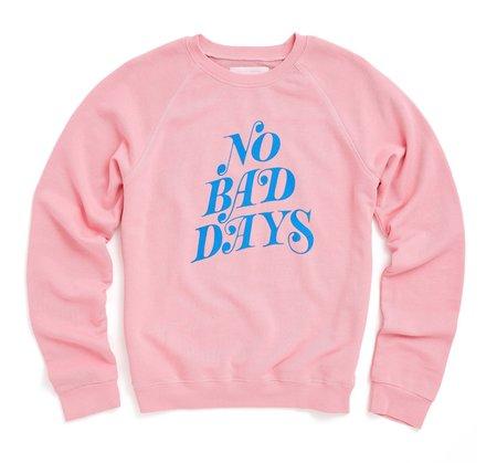 BAN.DO No Bad Days Raglan Sweatshirt - PINK
