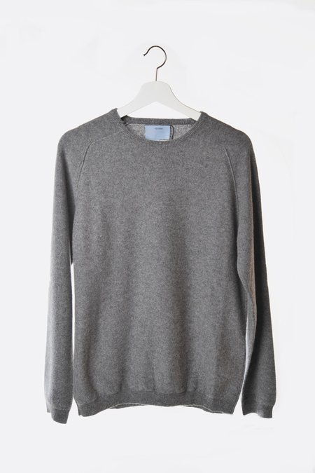 Unisex Oyuna Knitted Cashmere Pullover - Slate Grey