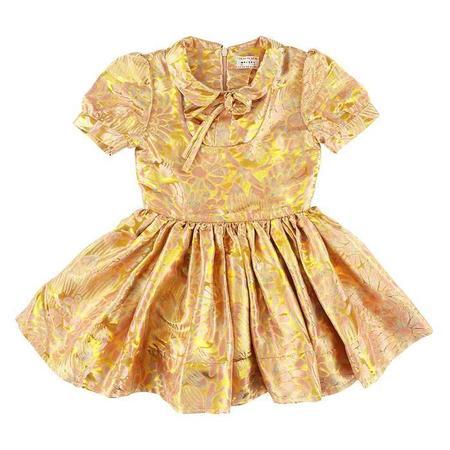 KIDS Morley Child Isla Dress - Shine Yellow Gold