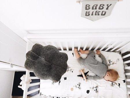 KIDS FRANKIE & FRENCHIE Bandit Bear Crib Sheet Set