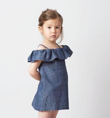 KIDS Belle Enfant Bardot Off-The-Shoulder Dress