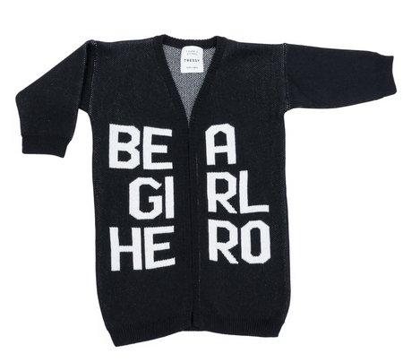 KIDS TRESSY Be A Girl Hero Long Knit - BLACK