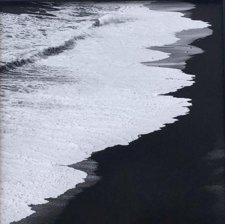 SOOuk Black Beach Print