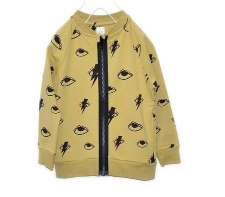 KIDS LITTLE MAN HAPPY Bowie Eyes Zip Jacket - Yellow
