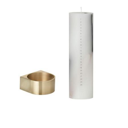 Ferm Living Brass Block Candleholder