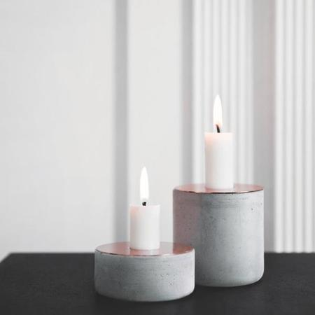 Menu Chunk Concrete Candle Holder