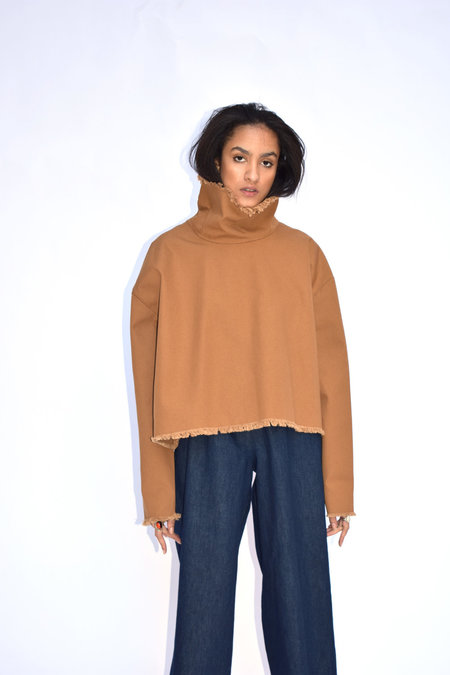 Ashley Rowe Tan Turtleneck - Brown